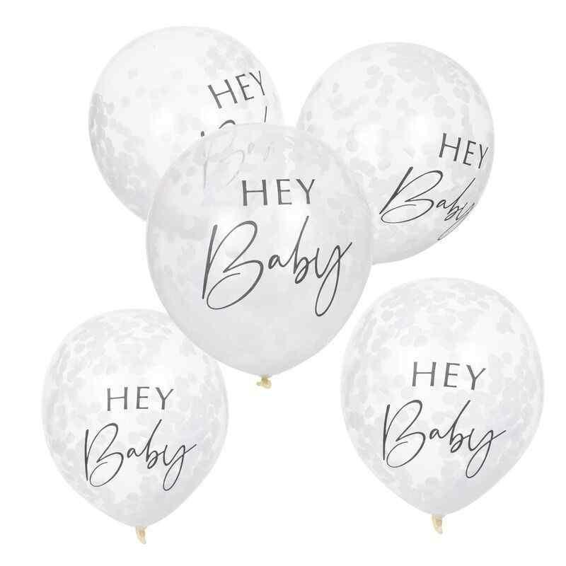 hey baby 12 inch balloons