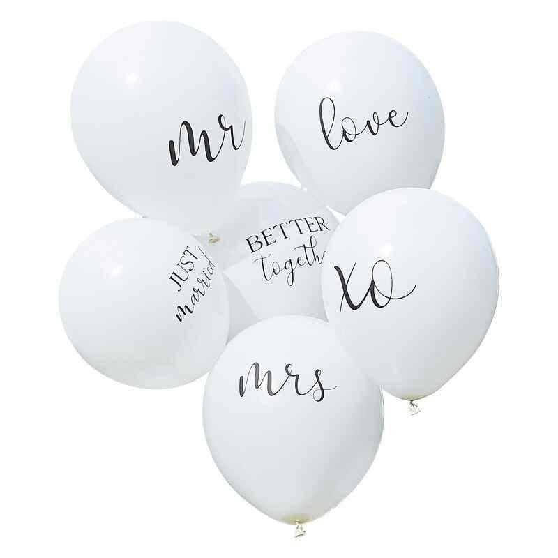Botaniskt bröllop - 12-tums ballonger med blandat paket