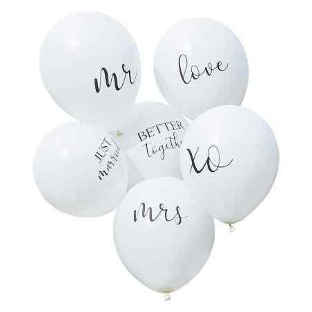 Botaniskt bröllop - 12-tums ballonger med blandat paket - 905