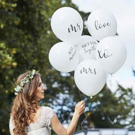 Botaniskt bröllop - 12-tums ballonger med blandat paket - 906