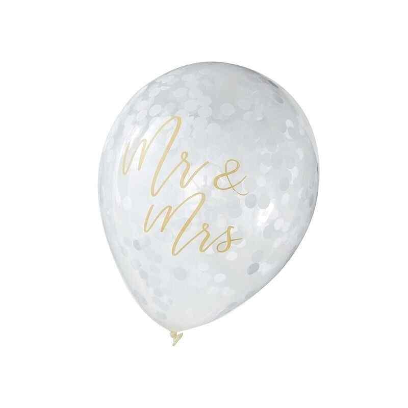 Guldbröllop - Mr & Mrs Balloons