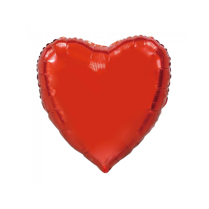 Giant Heart folie ballong Röd 92 cm